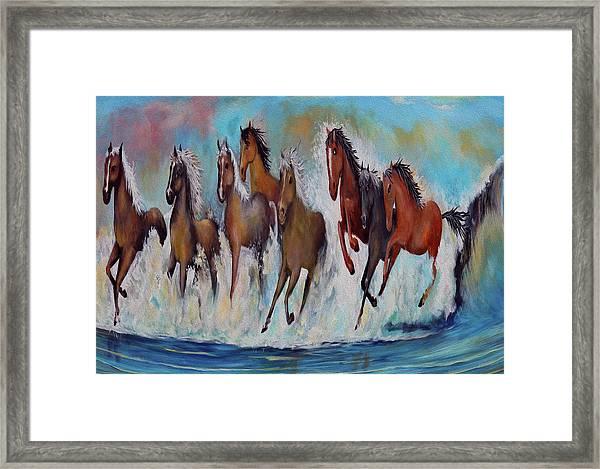 Horses Of Success Framed Print