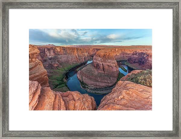 Horseshoe Bend Morning Splendor Framed Print