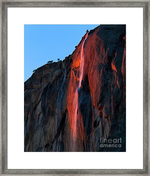 Horsetail Falls 2016 Framed Print