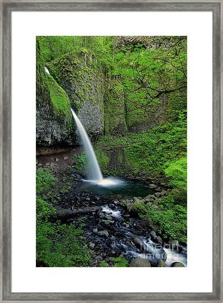 Horsetail Falls Waterfall Art By Kaylyn Franks Framed Print