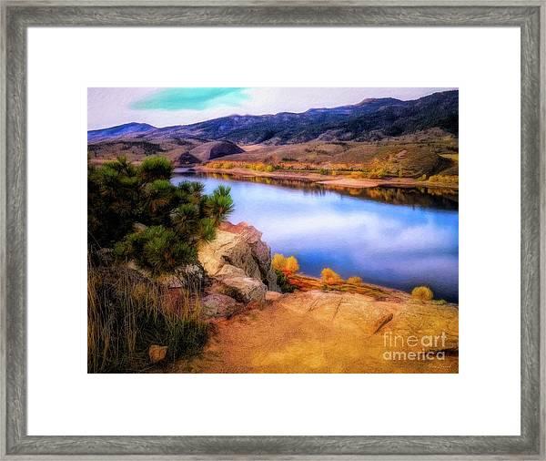 Horsetooth Lake Overlook Framed Print