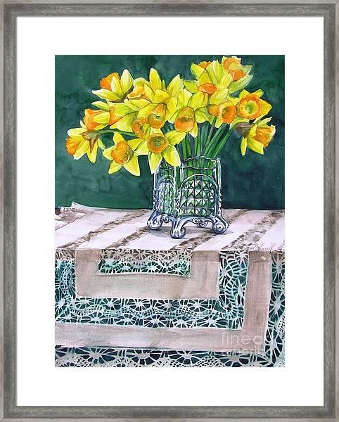 Host Of Daffodils Framed Print