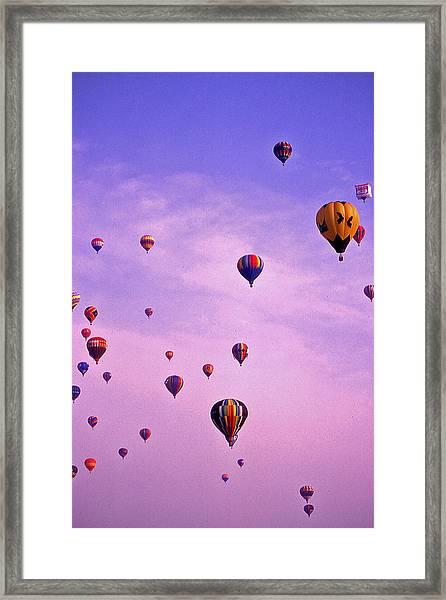 Hot Air Balloon - 13 Framed Print by Randy Muir