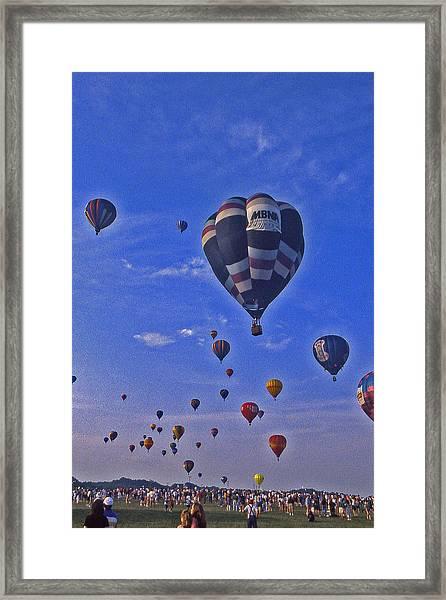 Hot Air Balloon - 14 Framed Print by Randy Muir