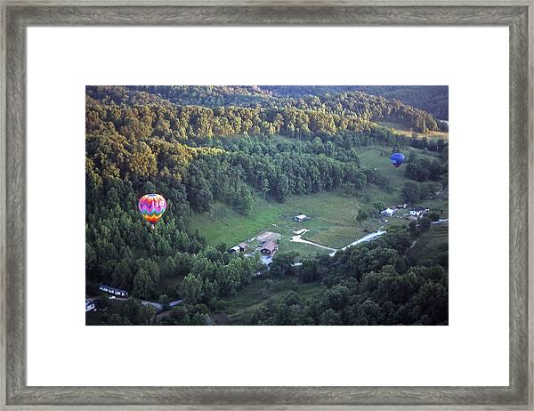 Hot Air Balloon - 3 Framed Print by Randy Muir