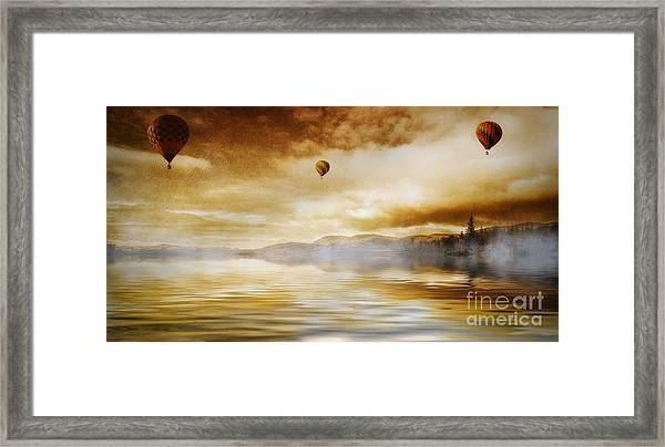 Hot Air Balloon Escape Framed Print