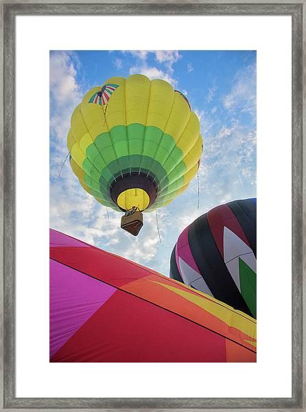 Hot Air Balloon Takeoff Framed Print