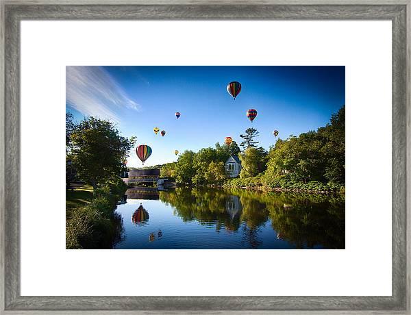 Hot Air Balloons In Quechee Framed Print