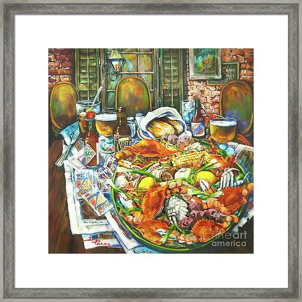 Hot Boiled Crabs Framed Print
