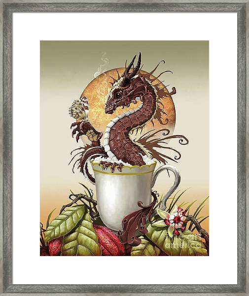 Hot Chocolate Dragon Framed Print