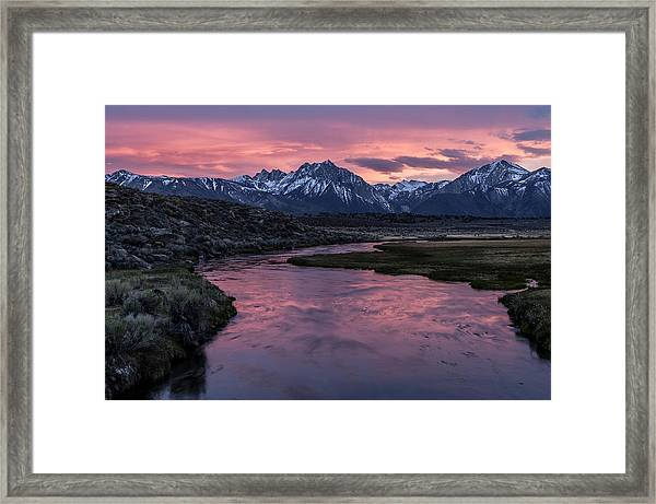 Hot Creek Sunset Framed Print