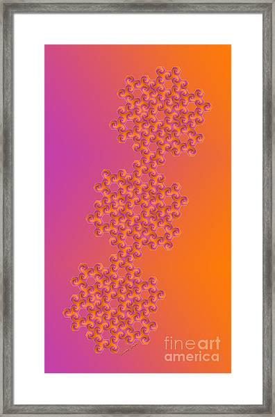 Hot Hexa Framed Print