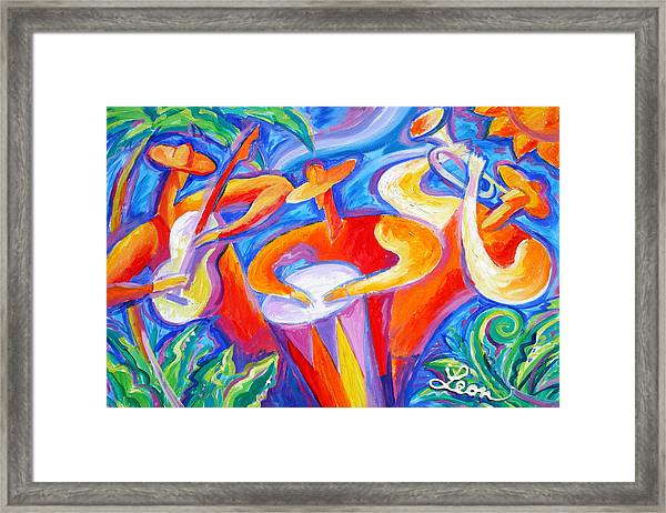 Hot Latin Jazz Framed Print
