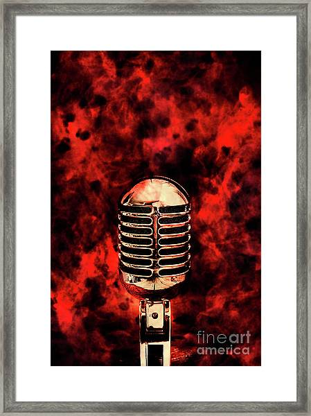 Hot Live Show Framed Print