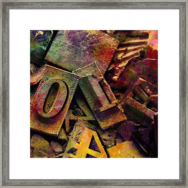 Hot Metal Type Framed Print