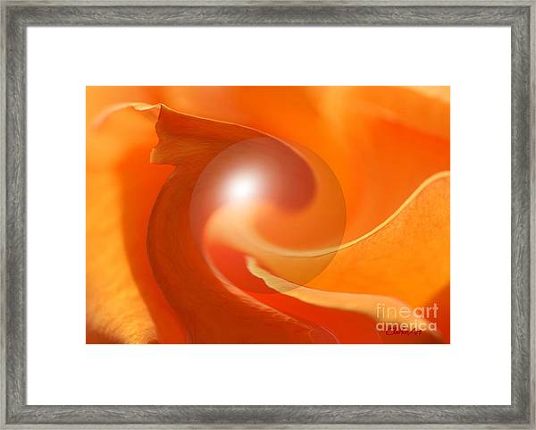 Hot Orange Globe Framed Print