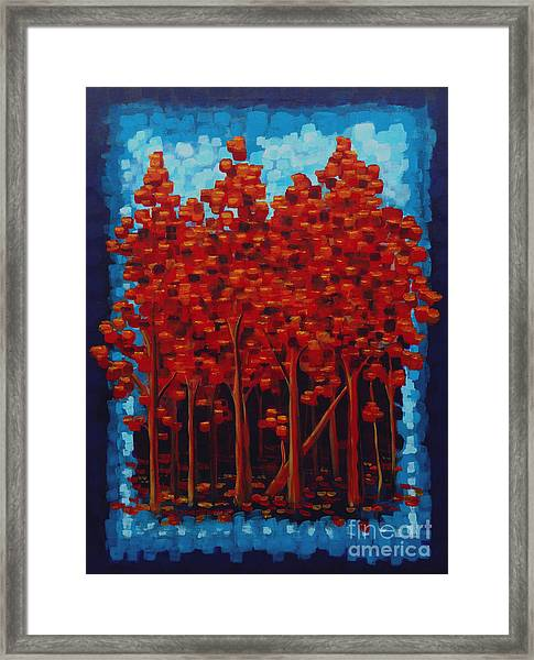 Hot Reds Framed Print