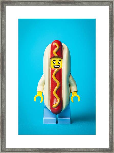 Hotdog Dude Framed Print