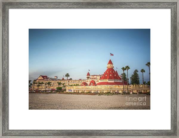 Hotel Del Coronado Dusk Framed Print