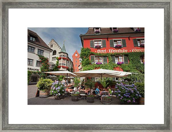 Hotel Lowen-weinstube Framed Print