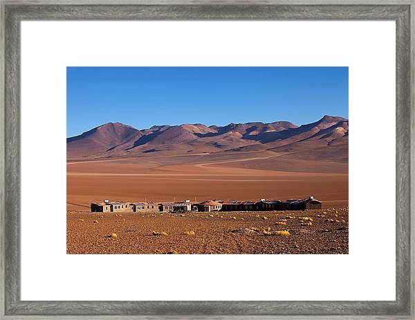 Hotel Tayka Del Desierto In Siloli Desert Framed Print