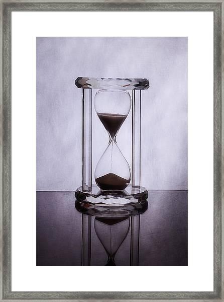 Hourglass - Time Slips Away Framed Print