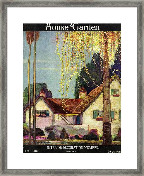 House And Garden Interior Decoration Number Cover Framed Print