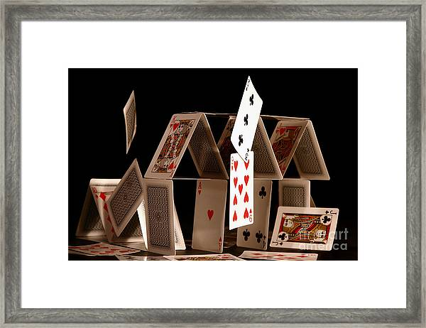 House Of Cards Framed Print