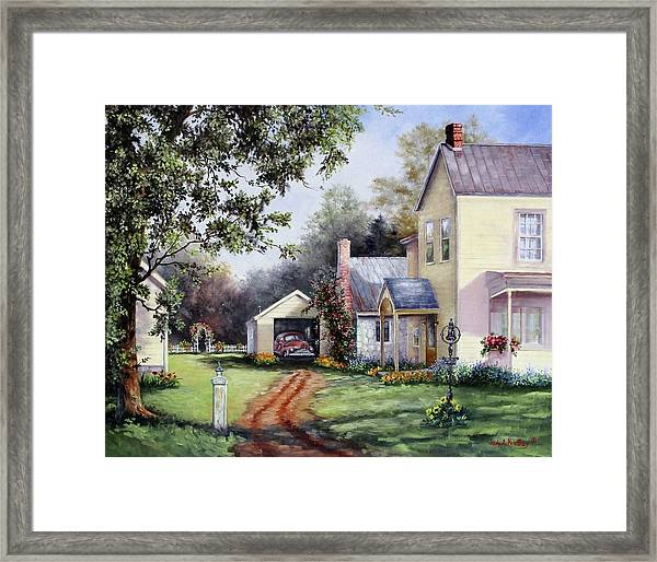 House On Bird Street Framed Print