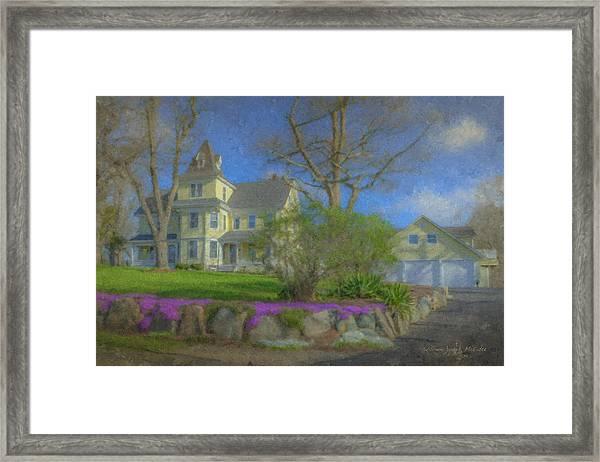 House On Elm St., Easton, Ma Framed Print