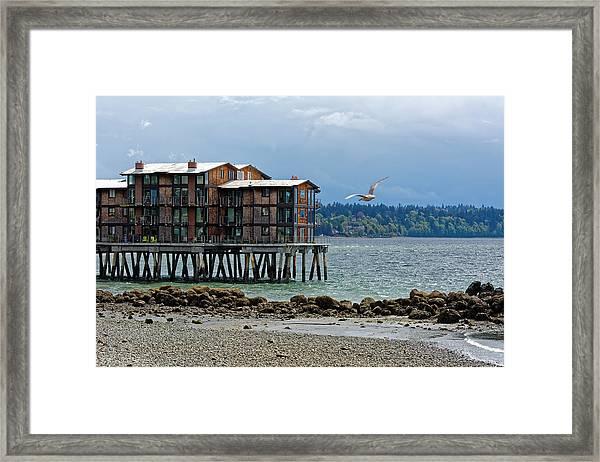 House On Stilts Framed Print