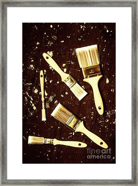 House Paint Abstract Framed Print