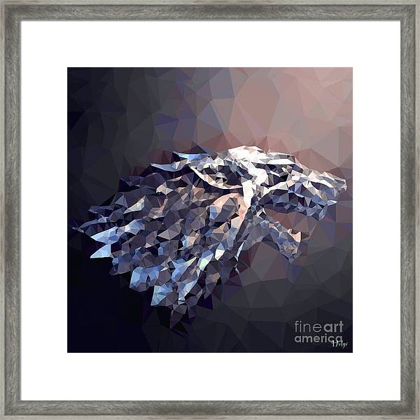House Stark Framed Print