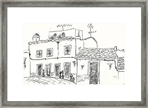 Houses In Elvas Framed Print