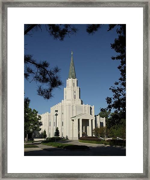 Houston Lds Temple Framed Print