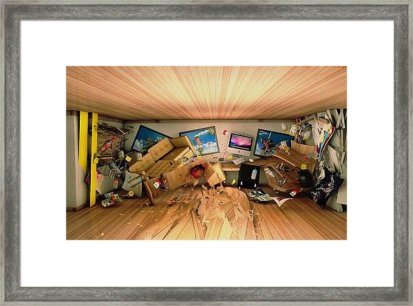 How Long Was I Gone Update Art Abstract Framed Print