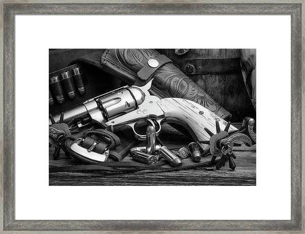 How The West Was Won In Black And White Framed Print
