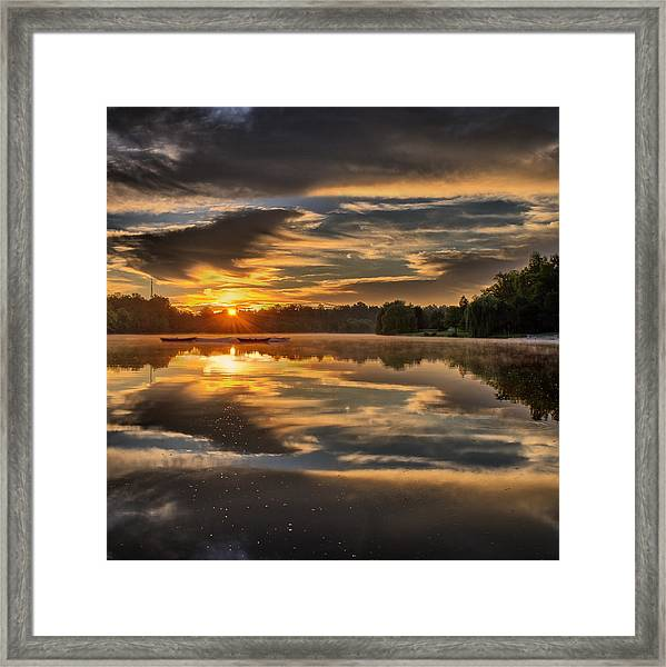 Hoyt Lake Sunrise - Square Framed Print