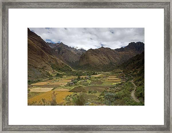 Huaripampa Valley Framed Print