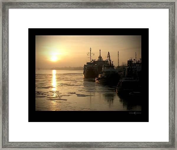 Huddled Boats Framed Print