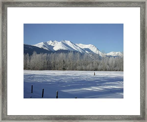 Hudson Bay Mtn Winter View Framed Print