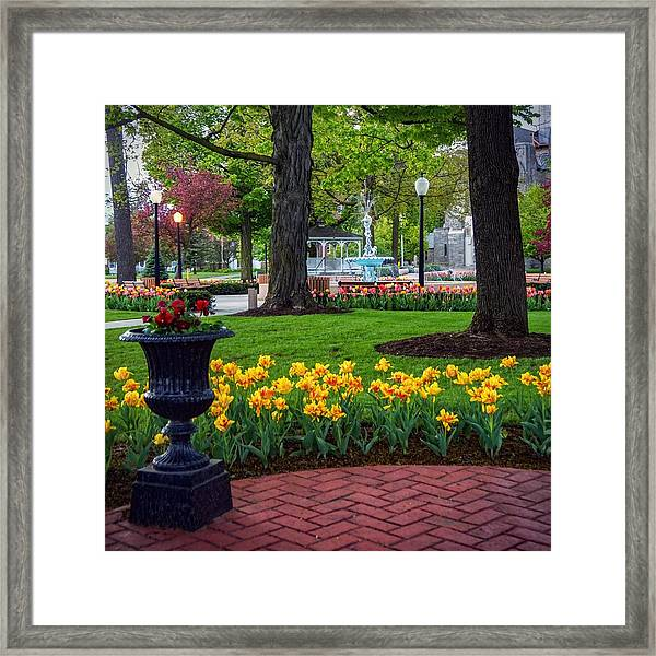 Hudson Falls...a Great Place To Call Home Framed Print