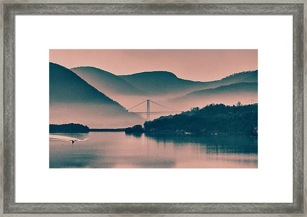 Hudson Highlands Fog Framed Print