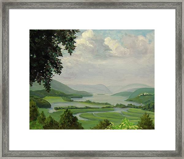 Hudson River Constitution Marshes Framed Print