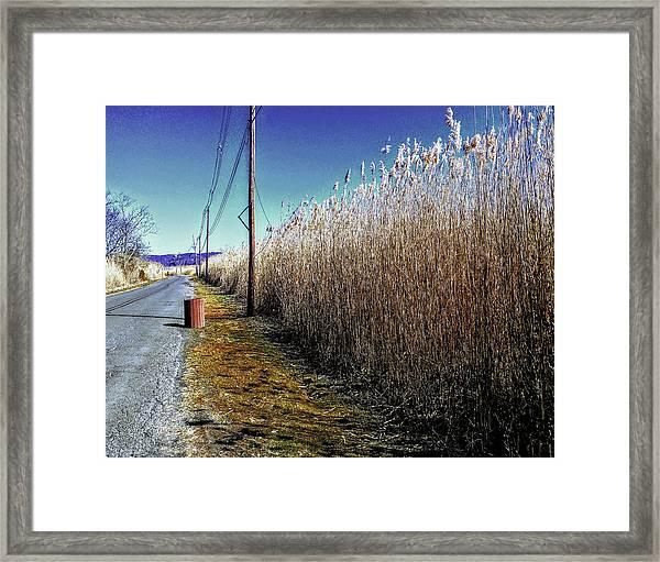 Hudson River Winter Walk Framed Print