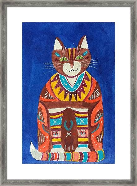 Huey Cat Framed Print