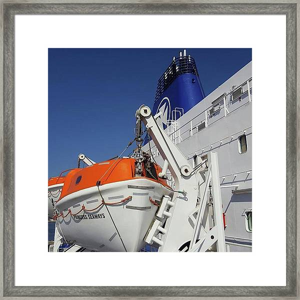 Huge #dfds Ferry ⛴ That Takes 500 Framed Print by Dante Harker