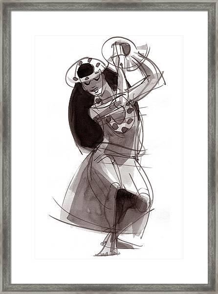 Hula Dancer Alika Framed Print
