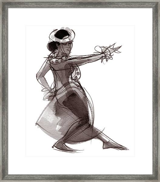 Hula Dancer Keala Framed Print