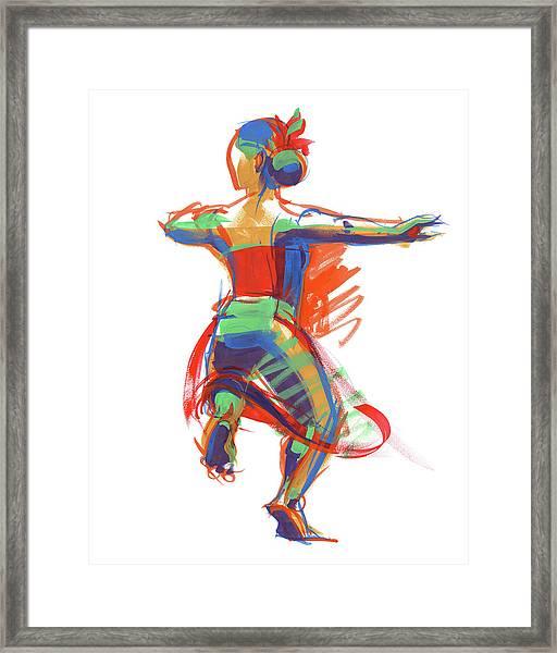 Hula Wahine Ikaika Framed Print